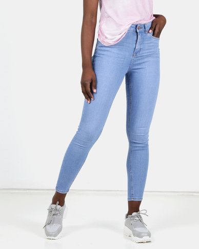 New Look Blue 'Lift & Shape' Skinny Jeans