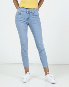 New Look High Waist Skinny Yazmin Jeans Light Blue