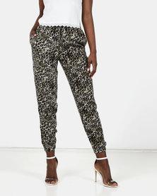 New Look Leopard Print Joggers Khaki