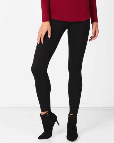 New Look High Waist Leggings Black