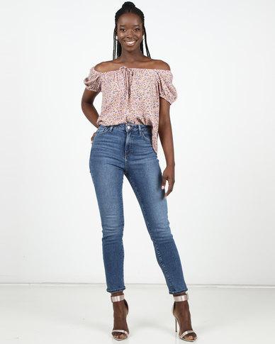 New Look Dark Blue Waist Enhance Slim Mom Jeans