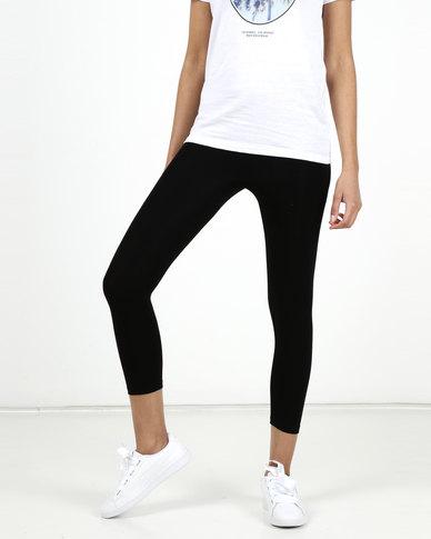 New Look Midi Length Leggings Black