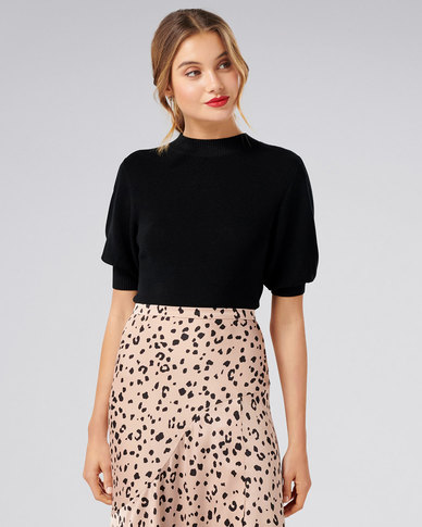 Forever New Nora Puff Sleeve Tee Black