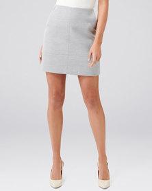Forever New Sammie Melton Mini Skirt Grey Marle