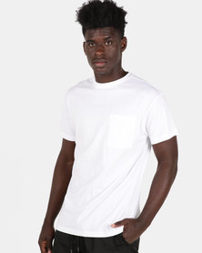 New Look Oversized Pocket Tee White