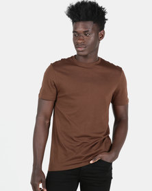 New Look Crew Neck T-Shirt Brown
