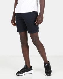 New Look Chino Shorts Navy