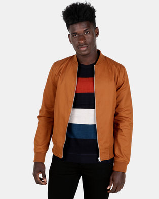 New Look Classic Bomber Jacket Brown