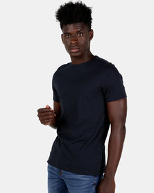 New Look Longline Fit T-shirt Navy