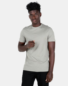 New Look Crew Neck T-Shirt Olive Green