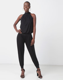 Slick Felicite Halter Neck Jumpsuit Black