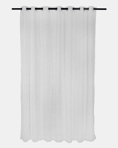 Design Collection Plain Voile 230 x 250 Eyelet Curtains White