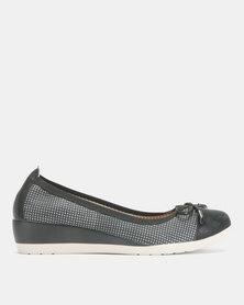 Butterfly Feet Millie Slip On Wedges Black
