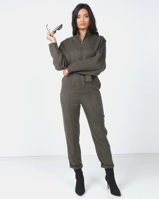 the best attitude b5791 1e201 Paige Smith Khaki Boiler Suit