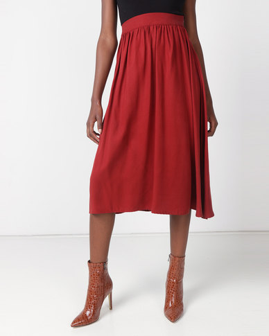 non-european® Waistline Skirt Wine