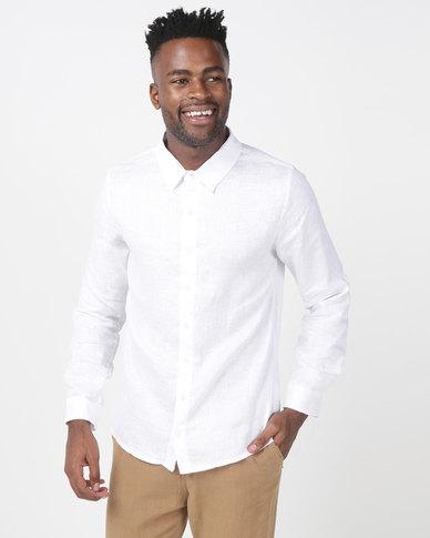 non-european® Formal Linen Shirt White