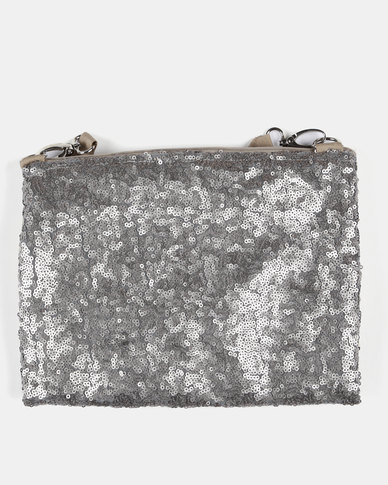 8fac000ff0734 UB Creative Sequin Shoulder Bag Silver