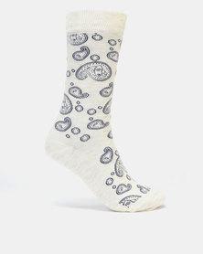 Merrell Formal Ladies Paisley Socks Multi