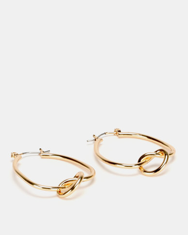 Lily & Rose Knotted Hoop Earrings Rose Gold