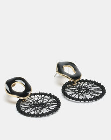 Lily & Rose Dream Catcher Drop Earrings Black