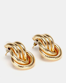 Lily & Rose Multi Knot  Stud Earrings Gold