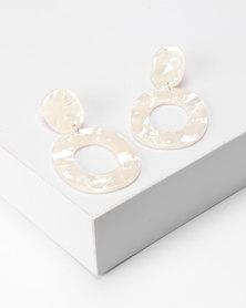 Lily & Rose Open Resin Drop Earrings Multi