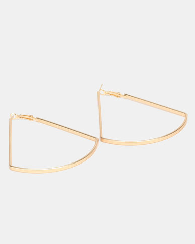 Lily & Rose Triangle Hoop Earrings Gold