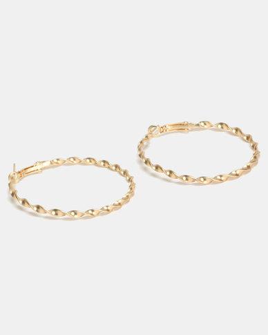 Lily & Rose Chain Link Hoop Earrings Gold