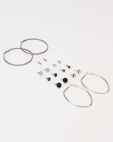Lily & Rose Hoop and Stud Earrings Pack Silver