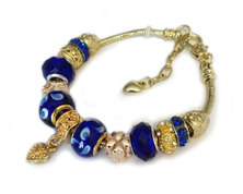 Urban Charm Gemmabella Charm Bracelet - Sapphire Blue