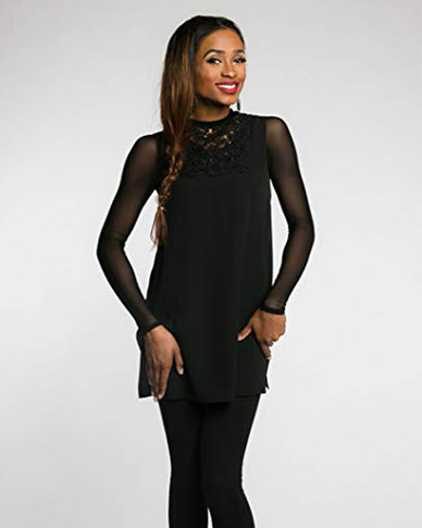 Gretmol Seamless Arm Shaper Shapewear Long Sleeve Mesh Black