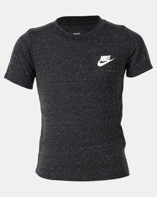 Nike Boys Futura Nep SS Tee Black Heather