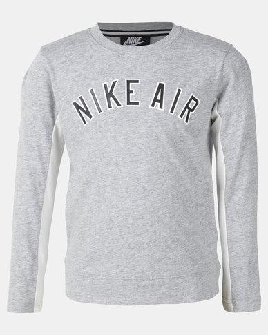 7bc5e2affa Nike Boys Air Lifestyle DK LS Top Grey Heather