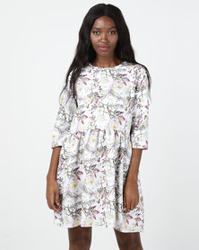 Gee Love It Swing Dress White Floral