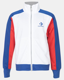 Converse Retro Sport Lightweight Warm Up Jacket  White