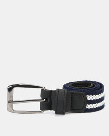 Little Lemon Belt Navy White