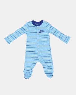 huge discount 0503a 8e68f Nike NKB JDI Stripe Footed Coverall Blue Gaze