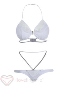 I Love Lingerie, Alacazam Asturias White Lace Detail Matching Set