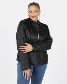 Utopia Black PU Biker Jacket
