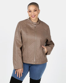 Utopia Chocolate PU Biker Jacket