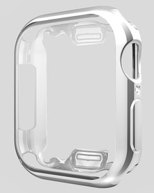 Gretmol Apple iWatch Protective Case Cover Silver - 38 mm