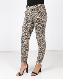 Revenge Leopard Animal Print Pants Multi