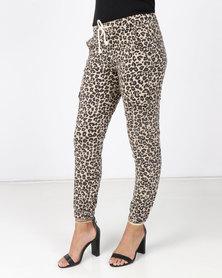 Revenge Leopard Animal Print Pants Multi