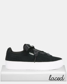 Puma Sportstyle Core Vikky Platform Ribbon Jr Sneakers Black