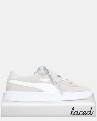 Puma Sportstyle Core Smash v2 Grey Ribbon Jr Sneakers Grey