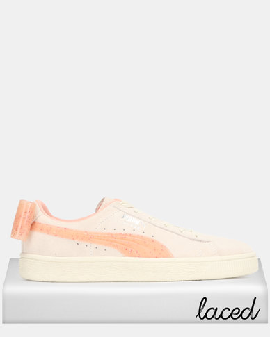 Puma Sportstyle Core Suede Bow Jelly White Jr Sneakers Off White