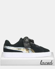 Puma Sportstyle Core Suede Heart Trailblazer SQN Black Jr Sneakers Black