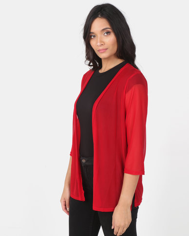 Utopia Red Mesh Cover Up