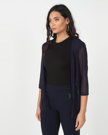 Utopia Navy Mesh Cover Up
