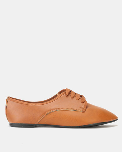 Legit Lace Up Oxford with Petersham Laces Tan